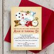 Alice in Wonderland 21st Birthday Party Invitation additional 1