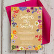 Pressed Flowers 80th Birthday Party Invitation additional 1