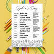 Floral Pattern Daily Kids' Planner additional 4