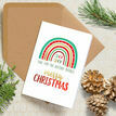 Pack of 10 '2020 Rainbow' Christmas Cards additional 1
