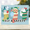 Pack of 10 'Elf & Safety' Christmas Cards additional 1