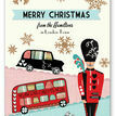 Illustrated London Themed Personalised Christmas Cards additional 2