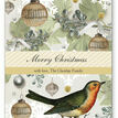 Vintage Robin Personalised Christmas Cards additional 2