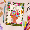 Bloom Floral Woman Personalised Luxury Notebook additional 2