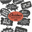 Christmas Holiday Chalkboard Speech Bubble Slogans - Printable Photo Booth Props additional 1