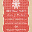Rustic Red & Kraft Snowflake Personalised Christmas Party Invitations additional 2