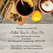 Mulled Wine & Mince Pies Personalised Christmas Party Invitations additional 2