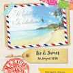 Mexico Beach Postcard Wedding Invitation additional 5