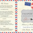 Vintage Airmail Passport Wedding Invitation additional 4