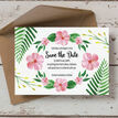 Tropical Flower Save the Date additional 4