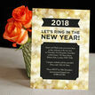 Black and Gold Sparkle New Years Eve Party Invitation additional 2