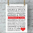 Personalised Sci-Fi Couples Valentine's Day Print additional 1