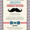 Little Man' Christening / Baptism Invitation additional 3