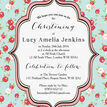 Vintage Rose Christening / Baptism Invitation additional 5