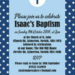 Navy Blue Stars Personalised Christening / Baptism Invitation additional 3
