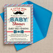 Little Man Baby Shower Invitation additional 1
