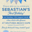 Vintage Blue Bunting Party Invitation additional 4