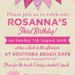 Vintage Pink Bunting Party Invitation additional 4