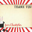 Magic Show Party Personalised Thank You Cards additional 2