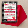 Retro Cherry Rockabilly Invitation additional 2
