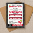 Retro Cherry Rockabilly Invitation additional 3