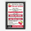 Retro Cherry Rockabilly Invitation additional 1