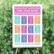 Mexican Inspired Papel Picado Wedding Seating Plan additional 1