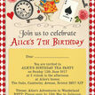 Alice in Wonderland Party Invitation additional 4