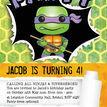 Turtle Superhero Birthday Party Invitation additional 5
