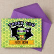 Turtle Superhero Thank You Card additional 1