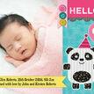 Panda Bear Photo Birth Announcement Card additional 4