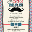 Little Man Party Invitation additional 3