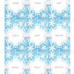 Frozen Ice Name Cards - Set of 9 additional 2