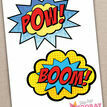 Printable Superhero Photo Booth Props additional 2