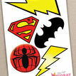 Printable Superhero Photo Booth Props additional 5