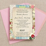 Vintage Scrapbook Wedding Invitation additional 1