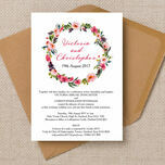 Pink Peony Watercolour Wedding Invitation additional 1