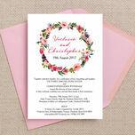 Pink Peony Watercolour Wedding Invitation additional 2