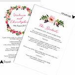 Pink Peony Watercolour Wedding Invitation additional 3