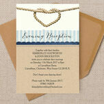 Nautical Knot Evening Reception Invitation additional 2