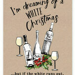 'White Christmas' Non Personalised Wine Themed Christmas Cards - Pack of 10 additional 2