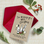 'White Christmas' Non Personalised Wine Themed Christmas Cards - Pack of 10 additional 1