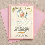 Flopsy Bunnies Beatrix Potter Christening / Baptism Invitation additional 3