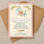Flopsy Bunnies Beatrix Potter Christening / Baptism Invitation additional 1