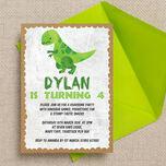 Dinosaur Birthday Party Invitation additional 1