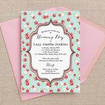 Vintage Rose Naming Ceremony Day Invitation additional 1