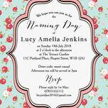 Vintage Rose Naming Ceremony Day Invitation additional 2