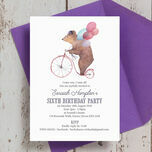 Circus Friends Birthday Party Invitation additional 4