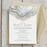 Agate Crystal 25th / Silver Wedding Anniversary Invitation additional 4