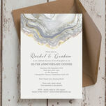 Agate Crystal 25th / Silver Wedding Anniversary Invitation additional 3